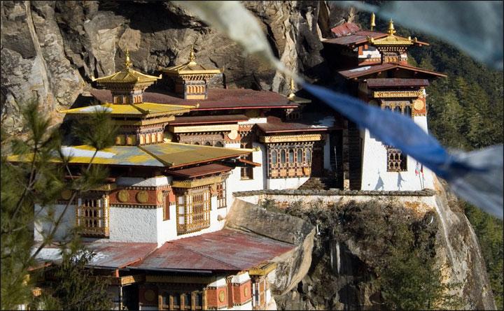 Temple set into cliff